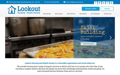 Lookout Society: Housing + Health Society – Solutions to Homlessness
