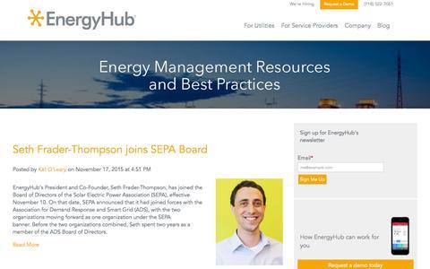 Screenshot of Blog energyhub.com - EnergyHub Blog - captured Nov. 23, 2015