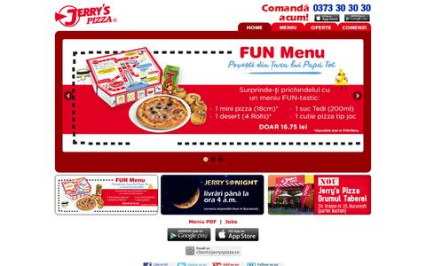 Screenshot of Home Page jerryspizza.ro - Jerry's Pizza - captured Oct. 7, 2015