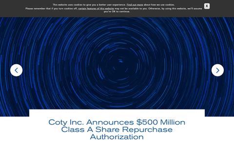 News | Coty