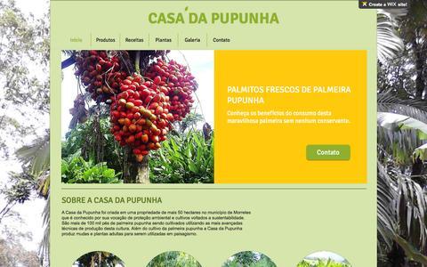 Screenshot of Home Page casadapupunha.com.br - Início - captured Dec. 7, 2015