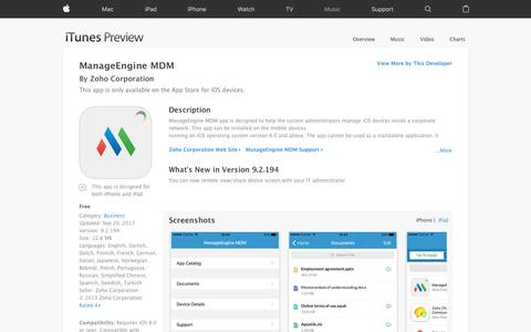 ManageEngine MDM on the App Store