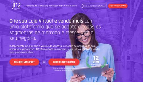 Screenshot of Home Page jn2.com.br - JN2 e-commerce expert | plataforma de e-commerce - captured Nov. 12, 2018