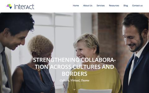Screenshot of Home Page interact-global.net - Interact Global strengthening collaboration across cultures and borders - captured Sept. 19, 2018