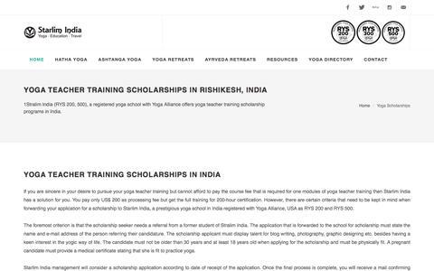 Yoga Teacher Training Scholarships in Rishikesh, India