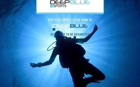 Screenshot of Home Page deepbluesports.co.uk - Page Title - captured Aug. 1, 2016