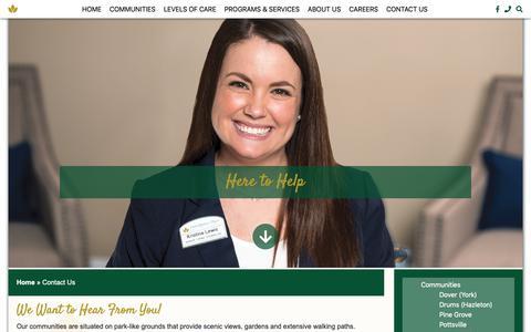 Screenshot of Contact Page providence-place.com - Contact Us – Providence Place - captured Oct. 30, 2018