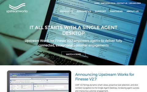 Screenshot of Products Page upstreamworks.com - Products - Upstream Works Software Upstream Works Software - captured Dec. 7, 2016