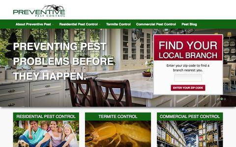 Screenshot of Home Page preventivepestcontrol.com - Preventive Pest Control Home | Effective & Reliable Pest Control - captured Sept. 30, 2014