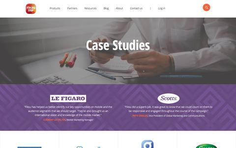 Screenshot of Case Studies Page fiksu.com - Fiksu | Data-fueled mobile marketing - captured Aug. 30, 2016