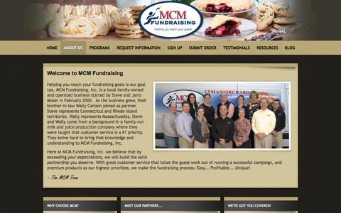 Screenshot of About Page mcmfundraising.com - Welcome to MCM Fundraising - captured July 10, 2018