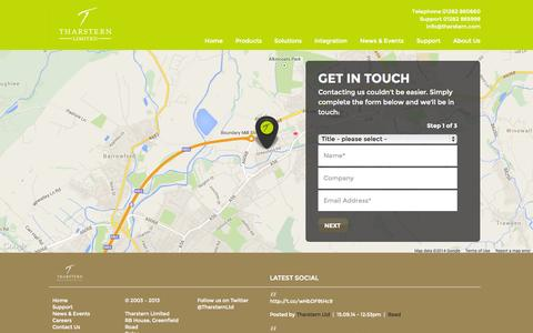 Screenshot of Contact Page tharstern.com - Contact Us | Tharstern Limited - captured Oct. 26, 2014