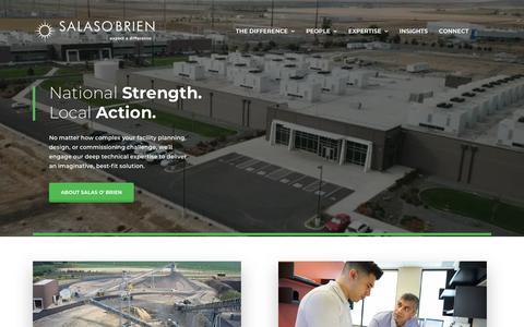 Screenshot of Home Page salasobrien.com - Salas O'Brien - National Strength, Local Action - captured Jan. 20, 2019