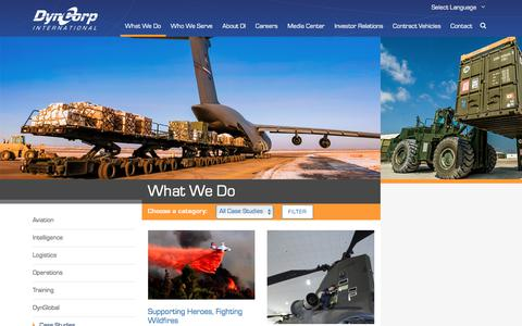 Screenshot of Case Studies Page dyn-intl.com - Case Studies Archive | DynCorp International - captured Oct. 13, 2017