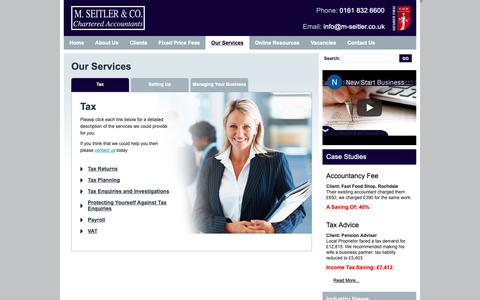 Screenshot of Services Page m-seitler.co.uk - Our Services - captured Nov. 11, 2018