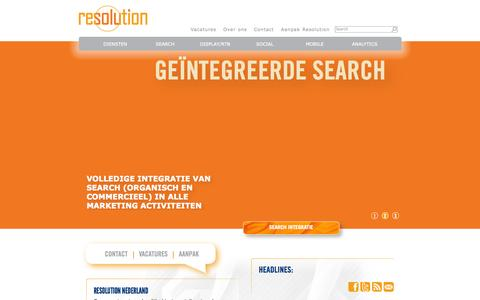 Screenshot of Home Page Site Map Page resolutionmedia.nl - Geïntegreerde Digitale Marketing | Resolution Nederland - captured Oct. 6, 2014
