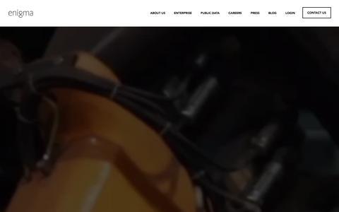 Screenshot of Home Page enigma.io - Enigma - captured Jan. 29, 2016