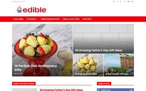 Screenshot of Blog ediblearrangements.com - Gifting & Food Blog: Gift Ideas, Dessert Recipes & More | Edible Blog - captured May 20, 2019