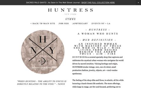 Screenshot of About Page huntressnewyork.com - About — H U N T R E S S - captured March 17, 2016