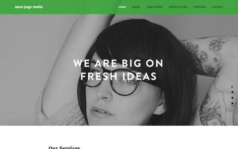 Screenshot of Home Page samepagemedia.com.au - Brand Marketing | Visual Merchandising Display | Same Page Media - captured July 23, 2016