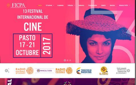Screenshot of Home Page ficpa.co - FICPA – Festival Internacional de Cine de Pasto - captured Feb. 20, 2018