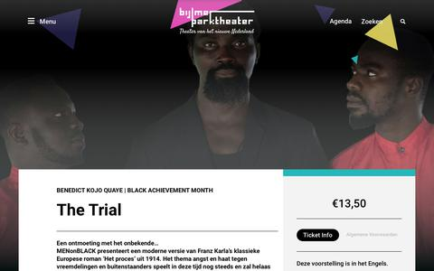 Screenshot of Trial Page bijlmerparktheater.nl - The Trial | Bijlmer Parktheater - captured Aug. 2, 2018