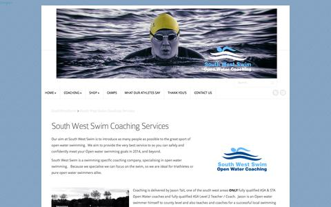 Screenshot of Services Page southwestswim.co.uk - South West Swim Coaching Services | SouthWestSwim - captured Oct. 7, 2014