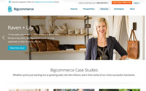 Screenshot of Case Studies Page bigcommerce.com - Case Study Overview Page | Bigcommerce - captured Oct. 29, 2014