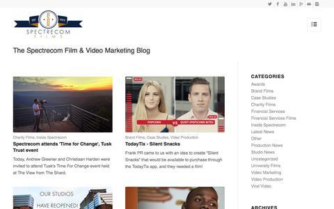 Screenshot of Blog Press Page spectrecom.co.uk - The Spectrecom Film & Video Marketing Blog - captured Nov. 3, 2016