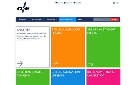 Screenshot of Jobs Page oke.de - Jobs & Karriere in der Unternehmensgruppe | OKE - captured Feb. 13, 2016