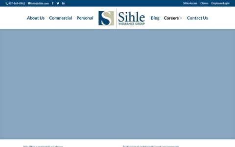 Screenshot of Jobs Page sihle.com - Careers - Sihle Insurance Group - captured Nov. 13, 2017
