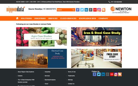 Screenshot of Case Studies Page nippondata.com - ERP in India - ERP Software - CRM SOftware - Inventory Software - Business Solutions - Business Intelligence - Nippondata Systems NIPPON DATA - captured Oct. 18, 2018