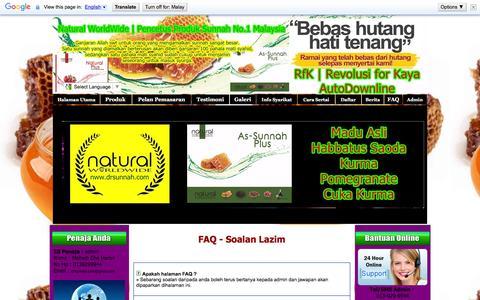 Screenshot of FAQ Page my-naturalherbs2u.com - RfK | Revolusi for Kaya - Modal Serendah RM130.00 - captured Feb. 20, 2016
