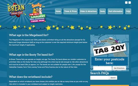 Screenshot of FAQ Page breanthemepark.co.uk - FAQs Archive • Brean Theme Park - captured May 24, 2016
