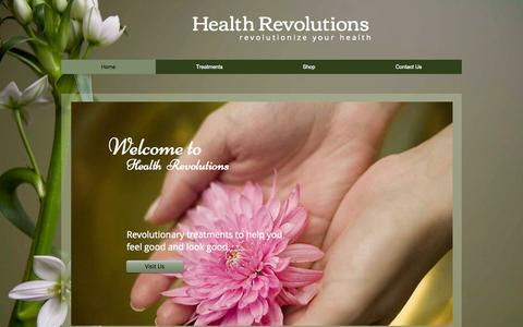 Screenshot of Services Page healthrevolutions.net - healthrevolutions - captured July 20, 2015