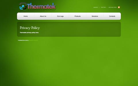 Screenshot of Privacy Page thermatek.ie captured Oct. 7, 2014