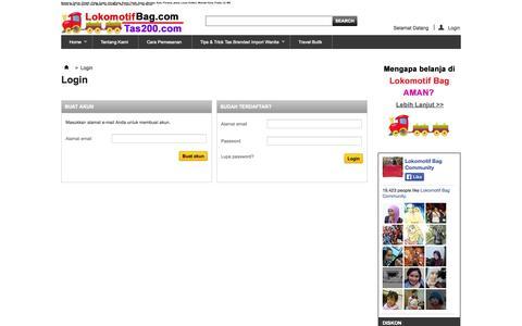 Screenshot of Login Page lokomotifbag.com - Jual Tas Wanita Branded Import Terbaru | Harga Murah Supplier Model Tas - captured Oct. 3, 2014