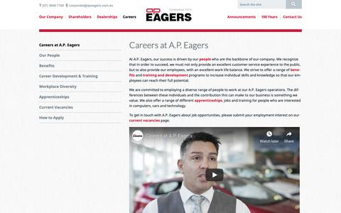 Screenshot of Jobs Page apeagers.com.au - Careers | A.P. Eagers Limited | Automotive Group - captured Nov. 17, 2018