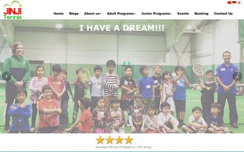 Screenshot of Home Page jinjitennis.com - Best Tennis in Tokyo | Tennis School | Jinji Tennis - captured Oct. 4, 2017
