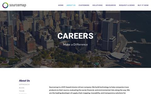 Screenshot of Jobs Page sourcemap.com - Careers — Supply Chain Mapping - captured Feb. 15, 2019