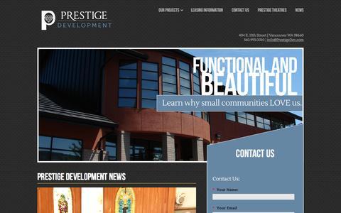 Screenshot of Press Page prestigedev.com - Prestige Development Blog - captured Nov. 11, 2016