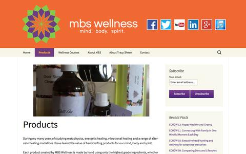 Screenshot of Products Page mbswellness.com.au - Products - mbs wellness - captured Oct. 29, 2014