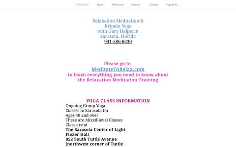 Screenshot of Home Page feelbetternowyoga.com - Meditation and Yoga with Gary Halperin - captured June 29, 2018