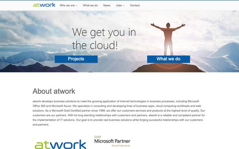 Screenshot of Home Page atwork-it.com - About atwork - atwork - captured Nov. 2, 2018