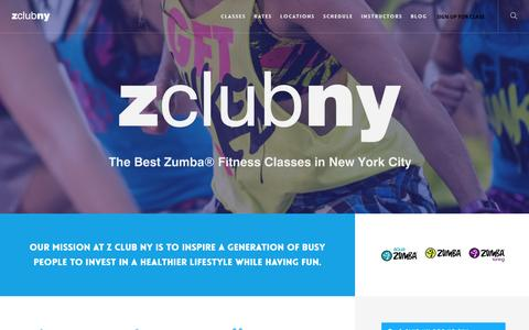 Screenshot of About Page zclubny.com - About Z Club NY |  Z CLUB NY - captured Oct. 15, 2016