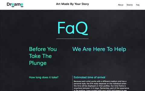 Screenshot of FAQ Page dreame.me - FaQ | Dreame.me - captured Nov. 16, 2015