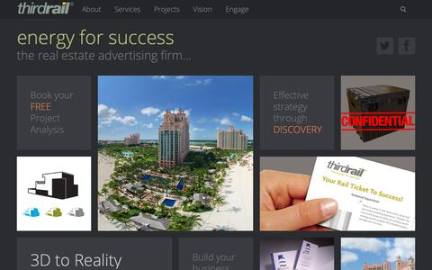 Screenshot of Home Page gothirdrail.com - Thirdrail, Kansas City's Real Estate Advertising Firm - captured Nov. 27, 2018