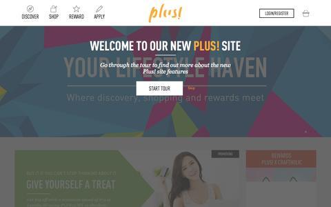 Screenshot of Contact Page plus.com.sg - Plus! - captured Oct. 15, 2015