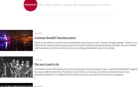 Screenshot of Press Page albachiara.net - Business marketing plan – Albachiara - News - captured Feb. 5, 2016