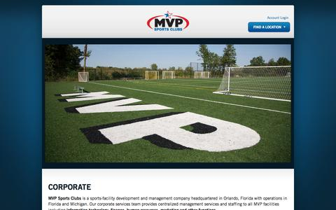 Screenshot of Team Page mvpsportsclubs.com - Corporate | MVP Sports Clubs - captured Sept. 19, 2014
